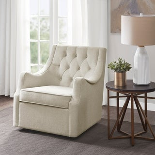 Link to Madison Park Elle Tan Swivel Chair Similar Items in Accent Chairs
