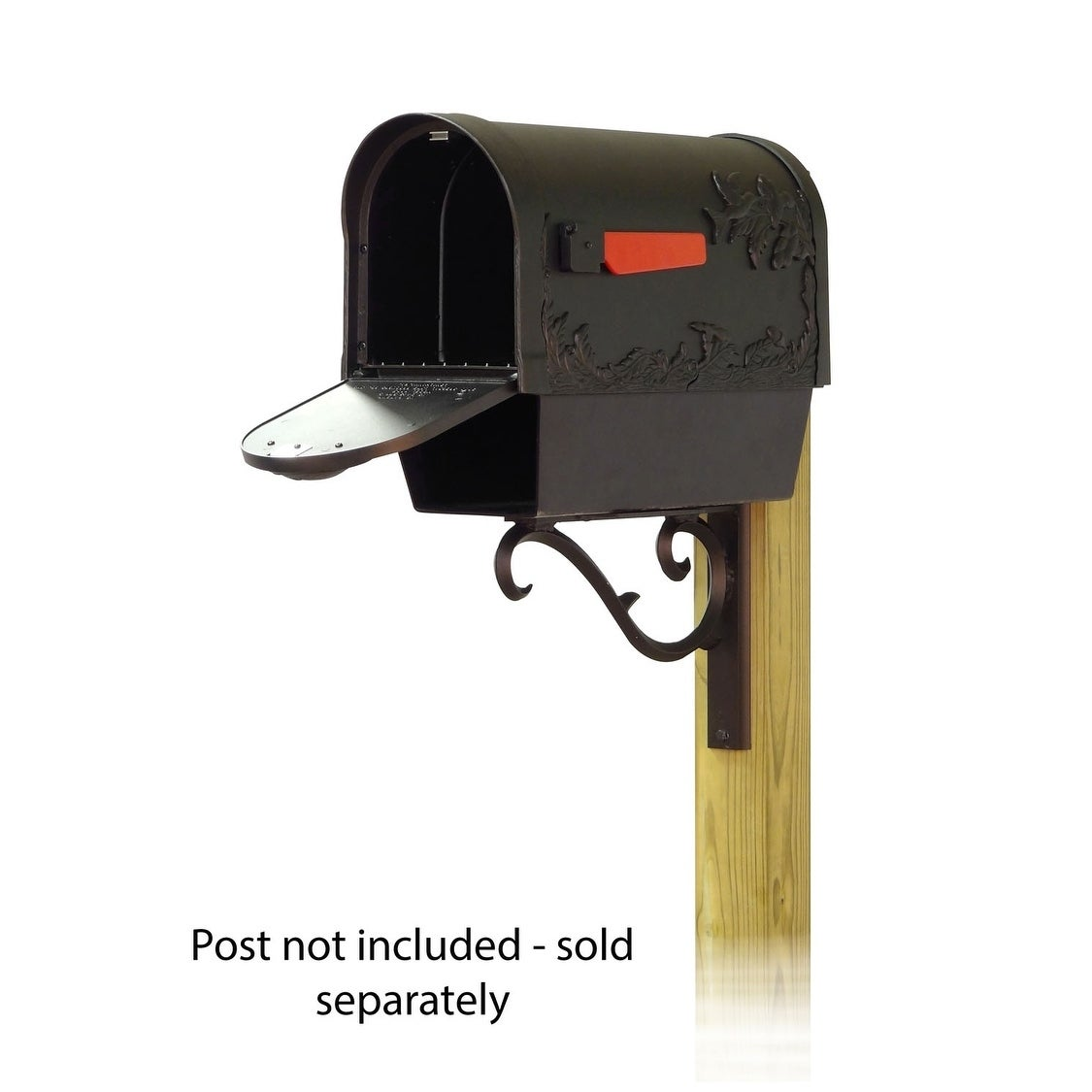 Picture of: Shop Special Lite Products Hummingbird Curbside Mailbox With Newspaper Tube And Sorrento Front Single Mailbox Mounting Bracket Overstock 25756112