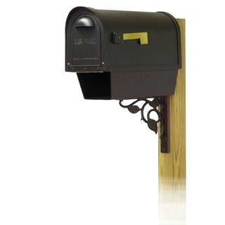 Special Lite Products Classic Curbside Mailbox with Newspaper Tube and Floral Front Single Mailbox Mounting Bracket