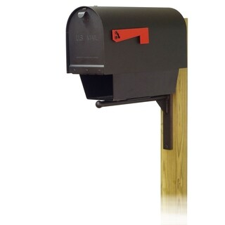 Special Lite Products Titan Aluminum Curbside Mailbox with Newspaper Tube and Ashley Front Single Mailbox Mounting Bracket