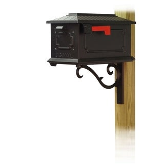 Special Lite Products Kingston Curbside Mailbox with Sorrento Front Single Mailbox Mounting Bracket