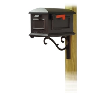 Special Lite Products Traditional Curbside Mailbox with Sorrento Front Single Mailbox Mounting Bracket