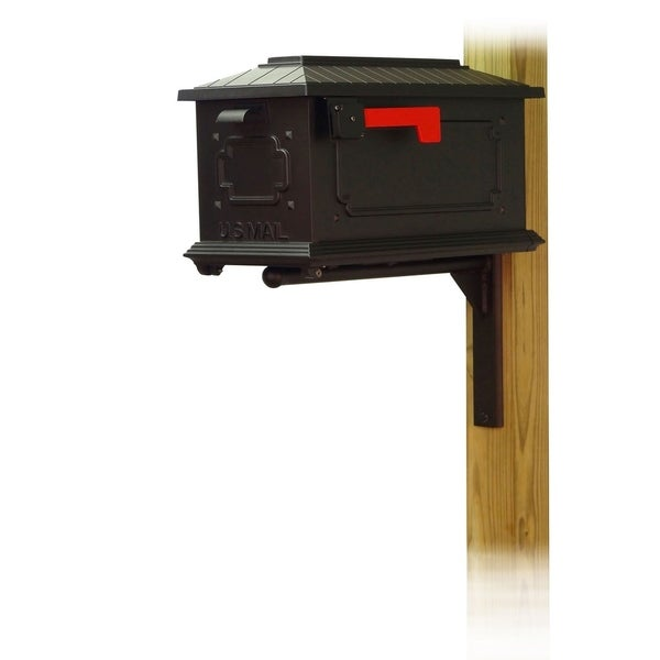 Special Lite Products Kingston Curbside Mailbox with Ashley Front Single Mailbox Mounting Bracket