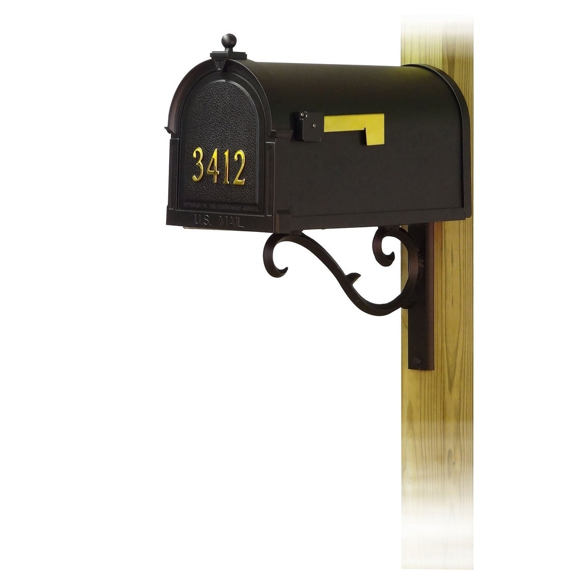 Special Lite Products Berkshire Curbside Mailbox With Front Address Numbers And Sorrento Front Single Mailbox Mounting Bracket Overstock 25756144