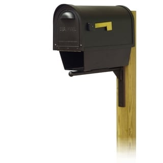 Special Lite Products Classic Curbside Mailbox with Newspaper Tube and Ashley Front Single Mailbox Mounting Bracket