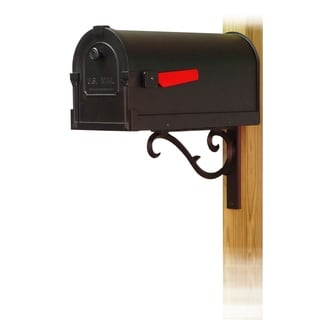 Special Lite Products Savannah Curbside Mailbox with Sorrento Front Single Mailbox Mounting Bracket