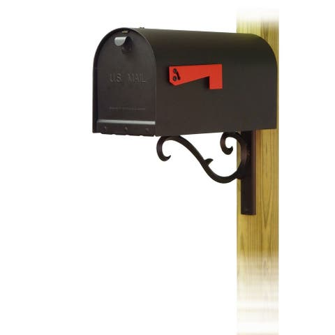 Special Lite Products Titan Aluminum Curbside Mailbox with Sorrento Front Single Mailbox Mounting Bracket
