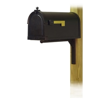 Special Lite Products Berkshire Curbside Mailbox with Ashley Front Single Mailbox Mounting Bracket