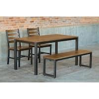 Elan Furniture Loft 4 Piece Bench Dining Set