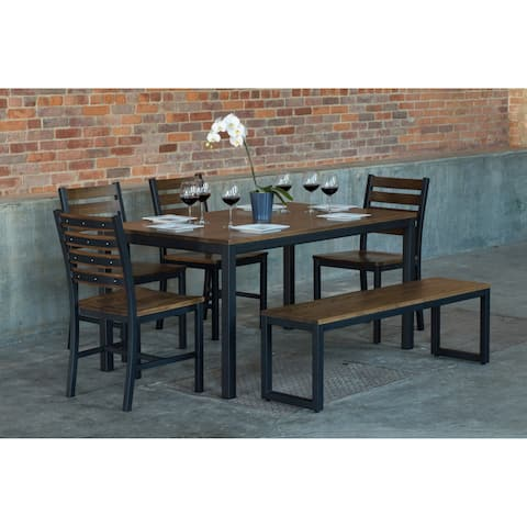 Elan Furniture Loft 6 Piece Bench Dining Set