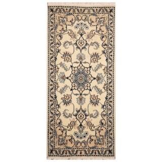 Handmade Nain Wool Rug (Iran) - 2'2 x 4'8