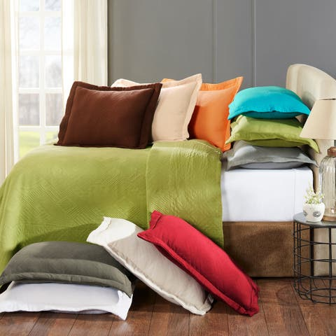 Superior Designer Geometric Fret Scalloped Bedspread