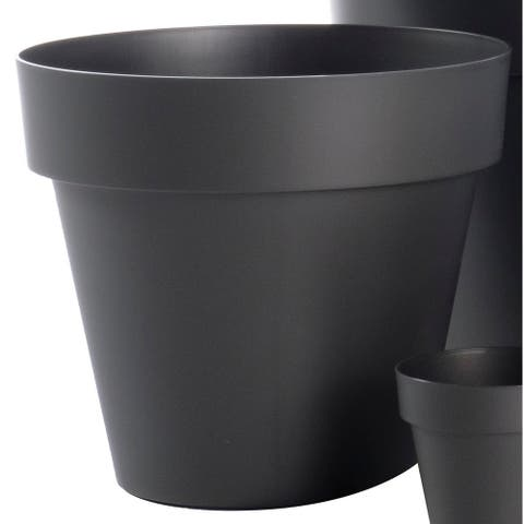 "15.75"" Mitu Pac Outdoor Planter in Anthracite Grey - 15.5"" w x 14""h"