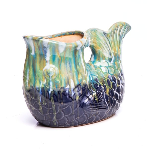 Ceramic Pittore Pesca, Multi-Blue. Opens flyout.