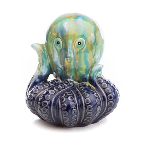 Ceramic Pittore Polpo, Multi-Blue