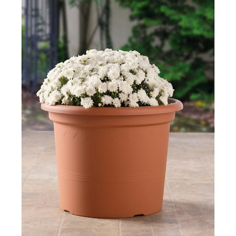 "15.75"" Geo Planter in Terra Cotta - 15.5"" w x 11.75"" h"