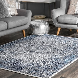 nuLOOM Transitional Vintage Elena Faded Persian Border Area Rug