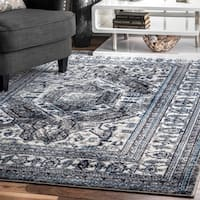 Copper Grove Velika Faded Linear Border Area Rug