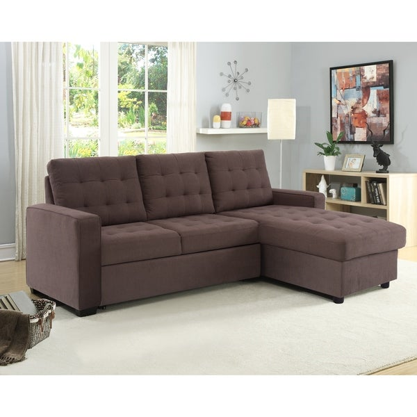 Shop Serta Bradley Convertible Sofa and Chaise - On Sale - Free ...