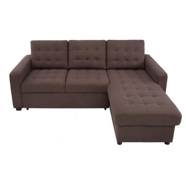 Shop Serta Bradley Convertible Sofa and Chaise - Free ...