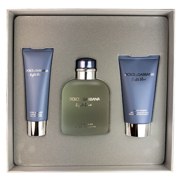 220426ffb8 Shop Dolce   Gabbana Light Blue Pour Homme 3-piece Set - Free Shipping  Today - Overstock - 25759711