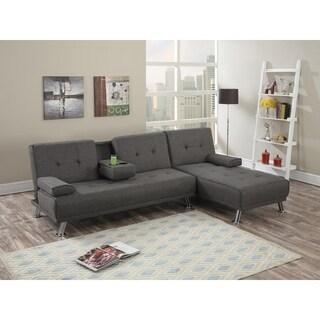 Lissandra Polyfiber Adjustable Sofa and Chaise Set