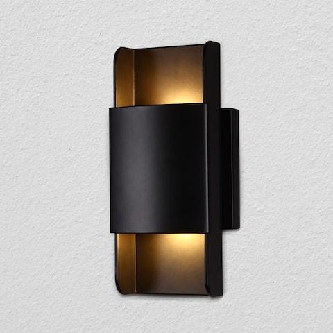 """VONN Lighting Atlas VMW15610BL 5"""" Integrated LED Wall Sconce Lighting Fixture in Black"""