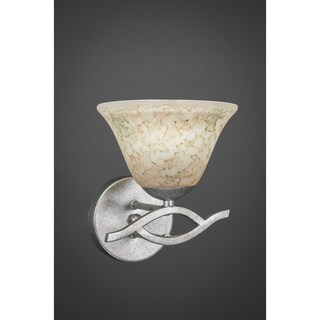 Revo 1 Light Wall Sconce Shown In Aged Silver Finish Glass Shade