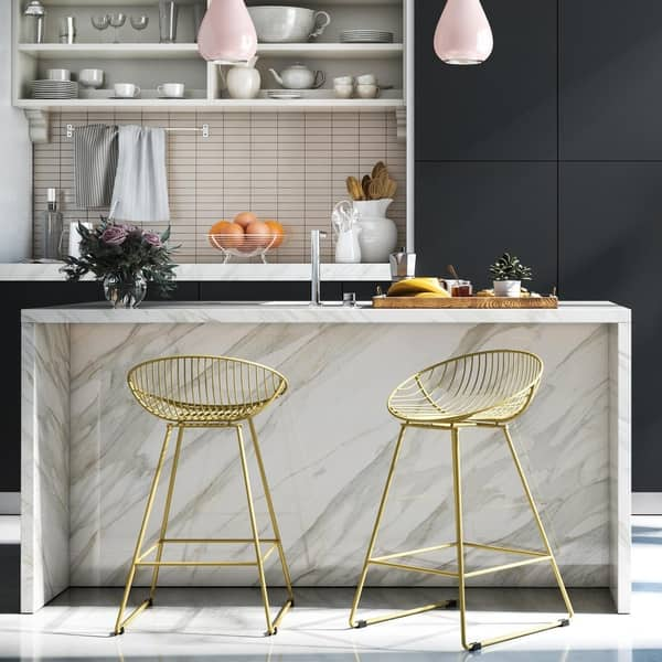 Outstanding Shop Cosmoliving By Cosmopolitan Ellis Wire Counter Stool Creativecarmelina Interior Chair Design Creativecarmelinacom
