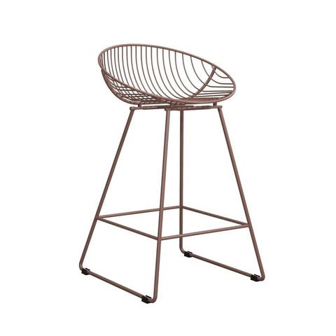 CosmoLiving by Cosmopolitan Ellis Wire Metal Counter Stool