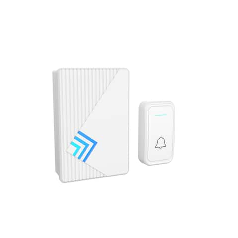 Doorbell  Wireless Electronic Alert System with LED Indicator, 80 Meter Range, 38 Chimes and 3 Volume Controls by Stalwart