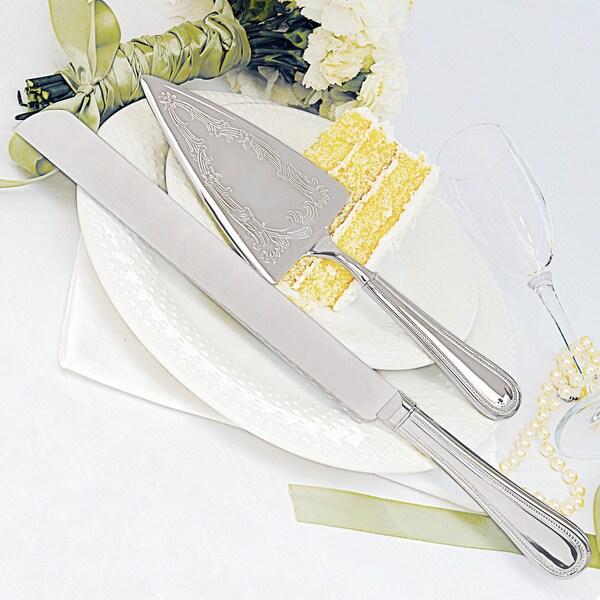 Beaded Cake Knife & Serving Set