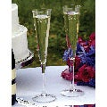 Bride and Groom 'Modern Flare' Toasting Flutes