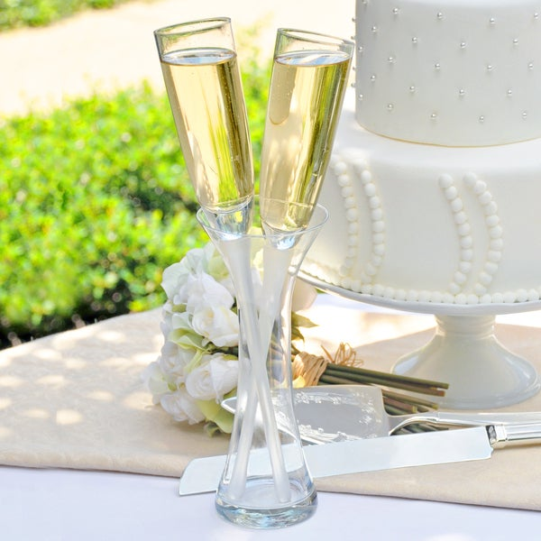 Shop Toasting Champagne Flutes Vase Set Free Shipping Today