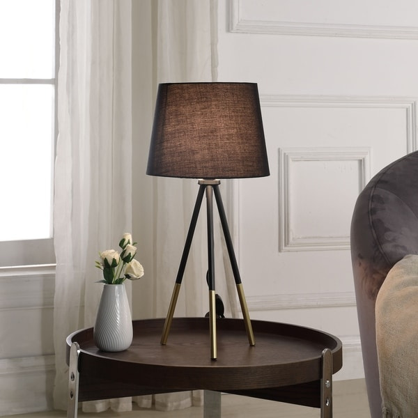 Shop 20 In Devon Black/ Gold Metal Tripod Table Lamp   On Sale   Free  Shipping On Orders Over $45   Overstock   25764590