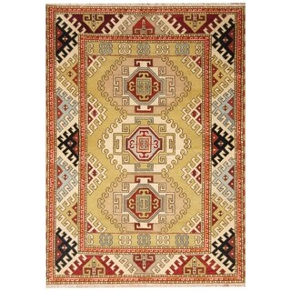 Handmade Kazak Wool Rug (India) - 5'9 x 8'