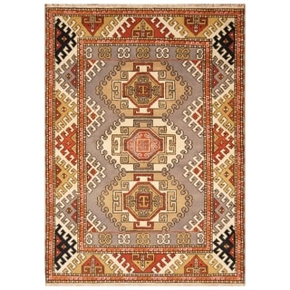 Handmade Kazak Wool Rug (India) - 5'8 x 7'10