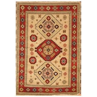 Handmade Kazak Wool Rug (India) - 4'9 x 6'9