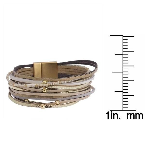 Ultra Lightweight Layered Studded Leather Bracelet