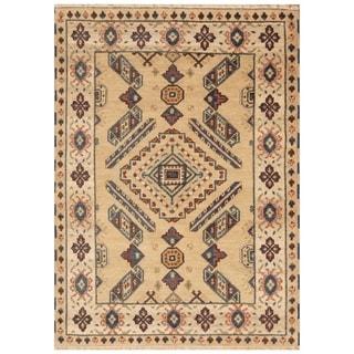 Handmade Kazak Wool Rug (India) - 4'9 x 6'6