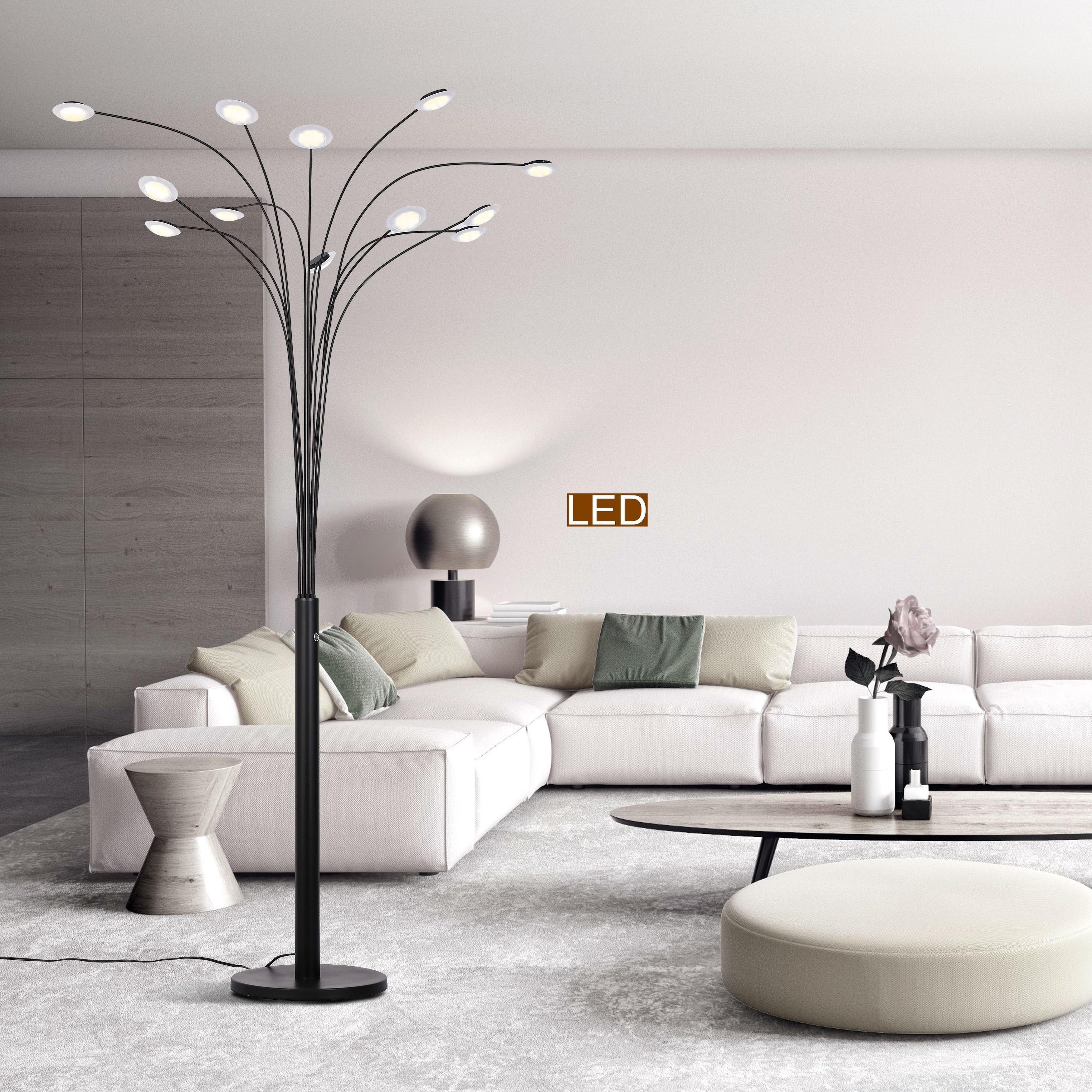 Artiva Quan Money Tree 12 Light 48w 84 Led Floor Lamp With Dimmer