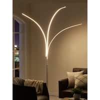 Artiva Aurora LED Arch Tree White Metal Floor Lamp