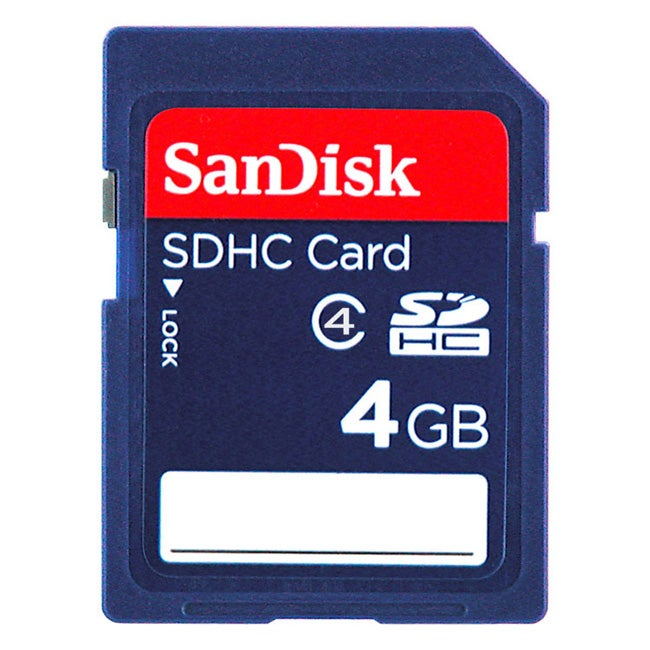 SanDisk 4GB SD/SDHC Memory Card (Class 4)