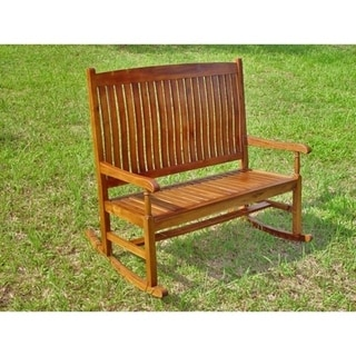 International Caravan Tradition Oil Finish Double Porch Rocker