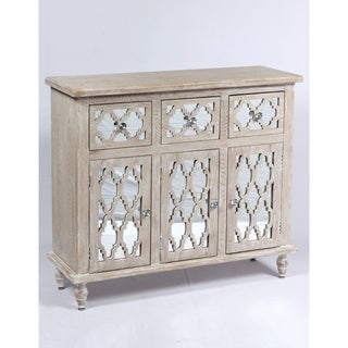 Emerald Home Canterwood Whitewash French Country Accent Cabinet