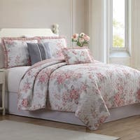Amrapur Overseas Daliah 5-Piece Reversible Quilted Coverlet Set