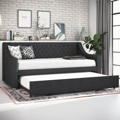 CosmoLiving by Cosmopolitan Nolita Upholstered Daybed and Trundle
