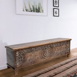 The Curated Nomad Gorham 17th Century Trunk Coffee Table