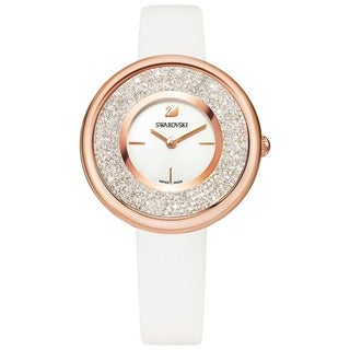 Swarovski Crystalline Pure Watch - Leather Strap - White - Rose Gold Tone - 5376083