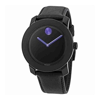 Movado Bold Leather Purple Accents Unisex Watch 3600479